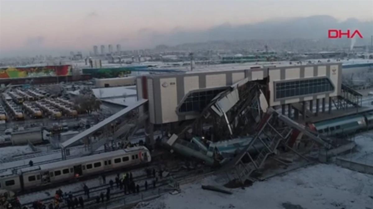 土耳其高速列車撞毀 4死43傷