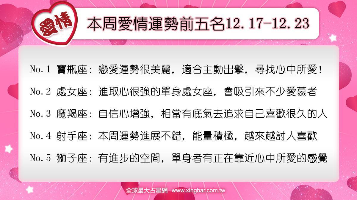12星座本周愛情吉日吉時(12.17-12.23)