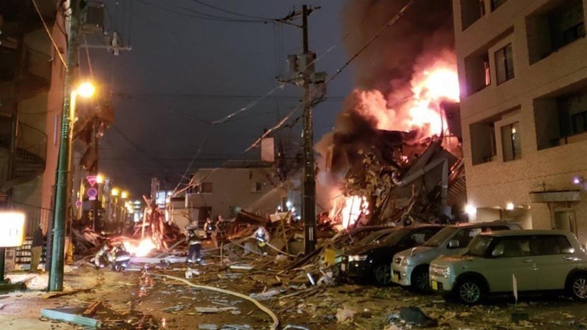 札幌居酒屋爆炸42傷 週遭數幢建築倒塌