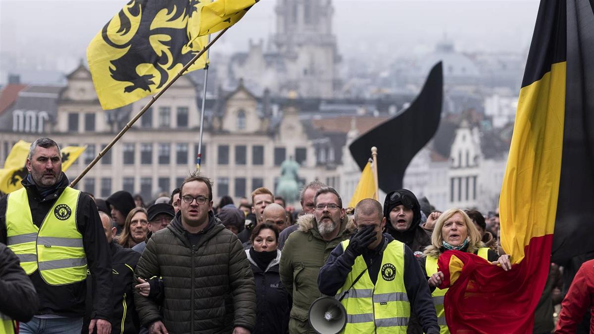 反全球移民契約 布魯塞爾逾5千人上街示威