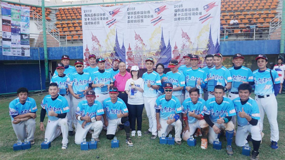 亞洲盃泰國台商慢速壘球賽 桃園隊奪冠