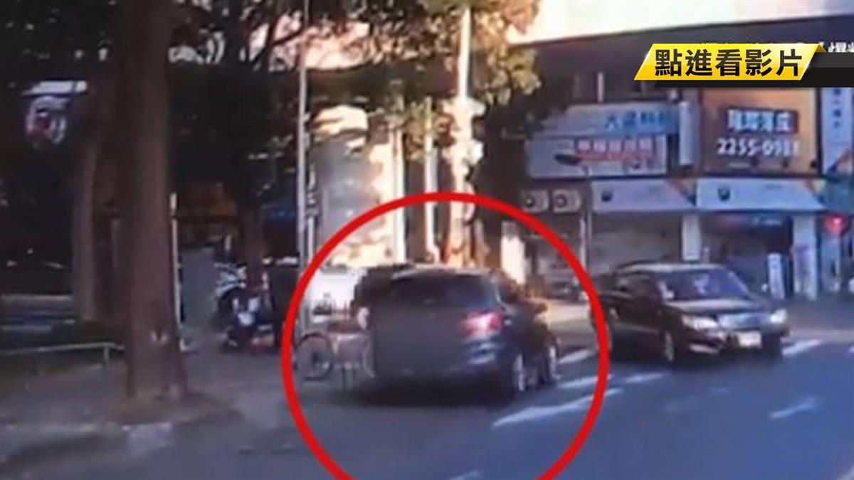 逆向直削轎車!台中BMW闖紅燈肇逃 誇張女駕駛找到了