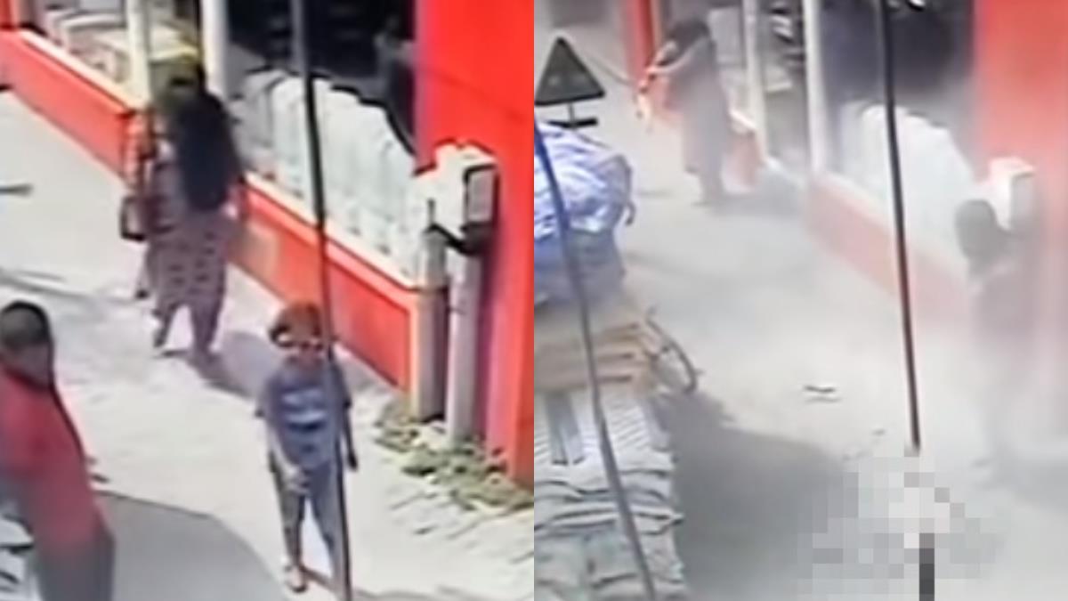 水泥袋「粉塵巨柱」6樓急墜 砸死7歲女童!媽媽還在拍粉