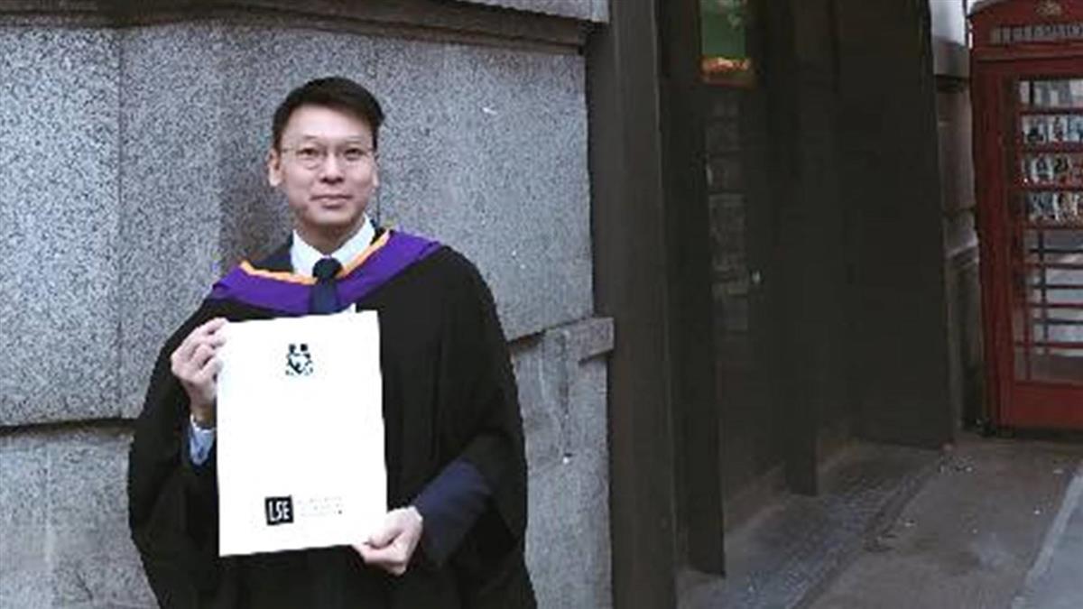 太陽花領袖林飛帆 倫敦政經學院畢業「未來走向不確定」