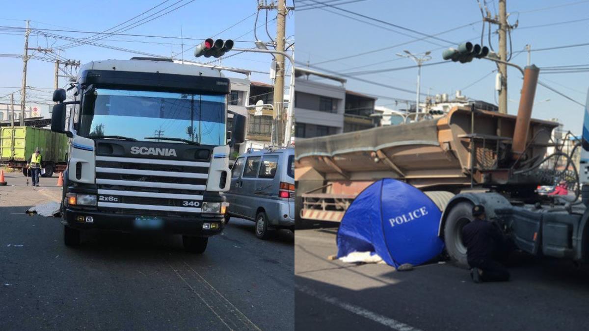 碰!女大生騎車上課 撞砂石車…拖行10多公尺輾斃