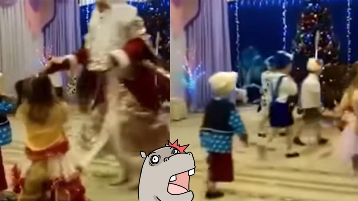 悲傷聖誕夜…聖誕老人「倒地」孩童狂笑 網哭:他成功了