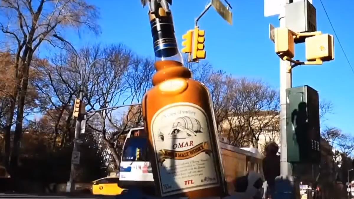 台灣威士忌前進美國 裝置藝術紐約吸睛