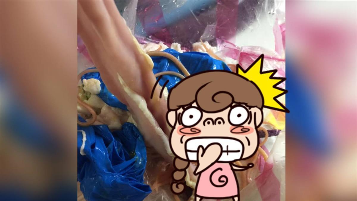 崩潰!清洗豬腸竟翻到「雞絲麵」 人妻嚇壞:不敢吃了