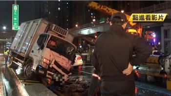 貨車失控逆撞!5車連環撞 釀8傷