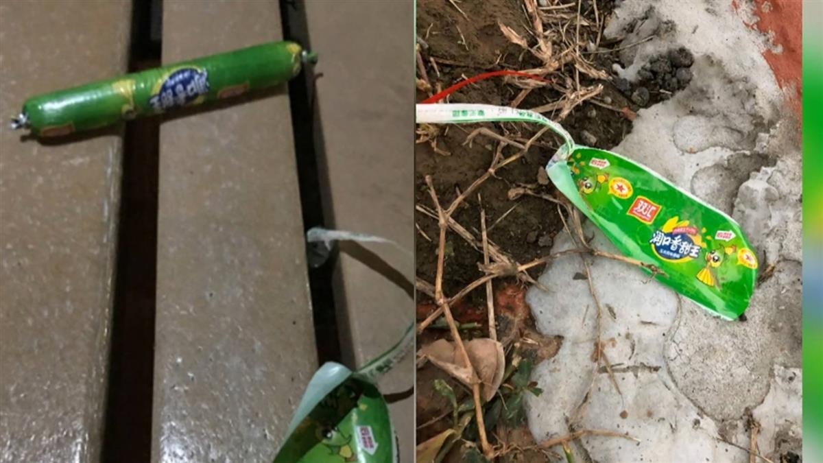 【獨家】台北河濱公園驚見大陸香腸…一條只剩包裝!