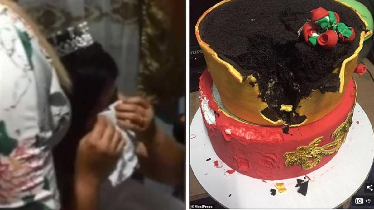 惡作劇?新娘驚見「保麗龍」婚禮蛋糕 當場崩潰痛哭