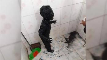 上廁所摔田 男童下陷成黑泥人!他驚曝「恐怖危機」