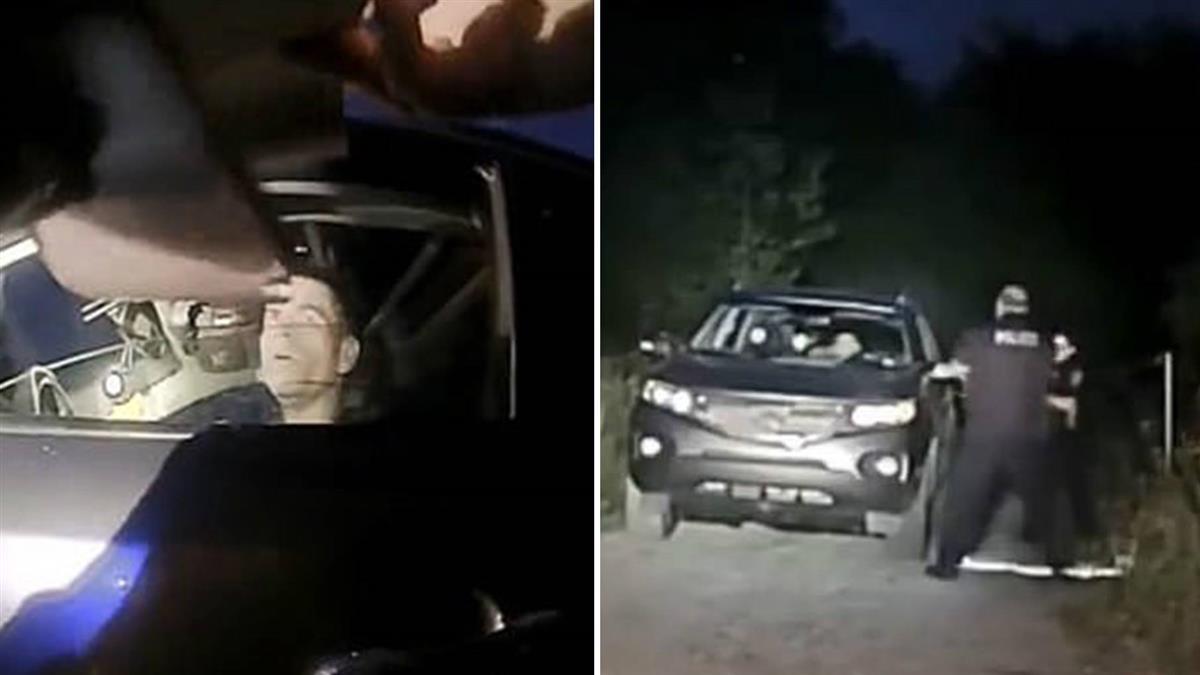 殺人犯亮槍瞄準 女警崩潰:拜託別開槍!男警秒擊斃他