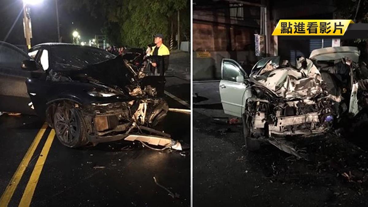 男酒駕逆向高速撞!女遭夾死車內 驚悚畫面曝光
