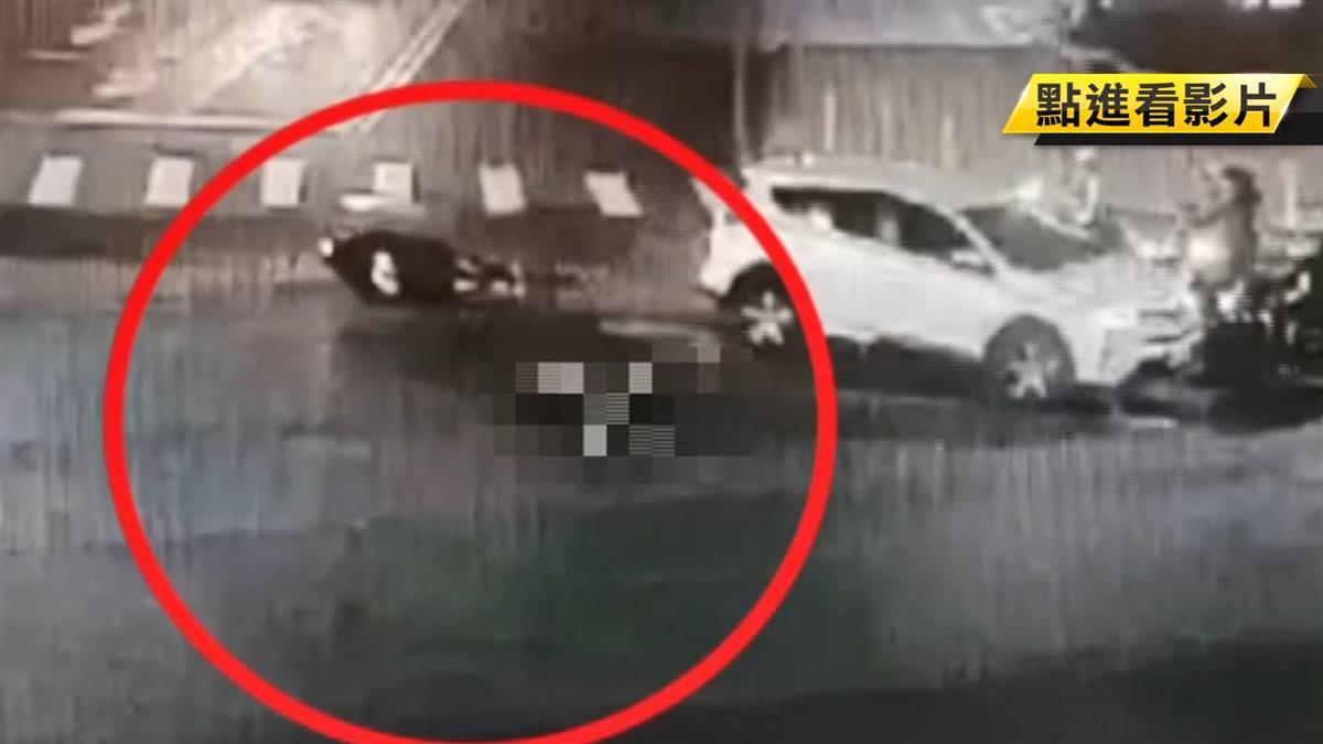 路口搶快害命!機車騎士遭休旅車輾斃 驚悚畫面曝光
