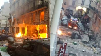 2消防員殉職…巴黎市中心「麵包店氣爆」建築毀損像戰區