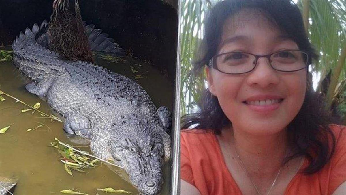 5公尺鱷魚躍起狠咬 她身體被啃爛「只剩一半」慘死!