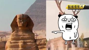 出奇招!山寨獅身人面像改「鹿頭」攬客 埃及罕見動肝火
