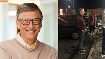 近3兆身價!比爾蓋茲乖乖排隊買漢堡 網讚:首富的氣度