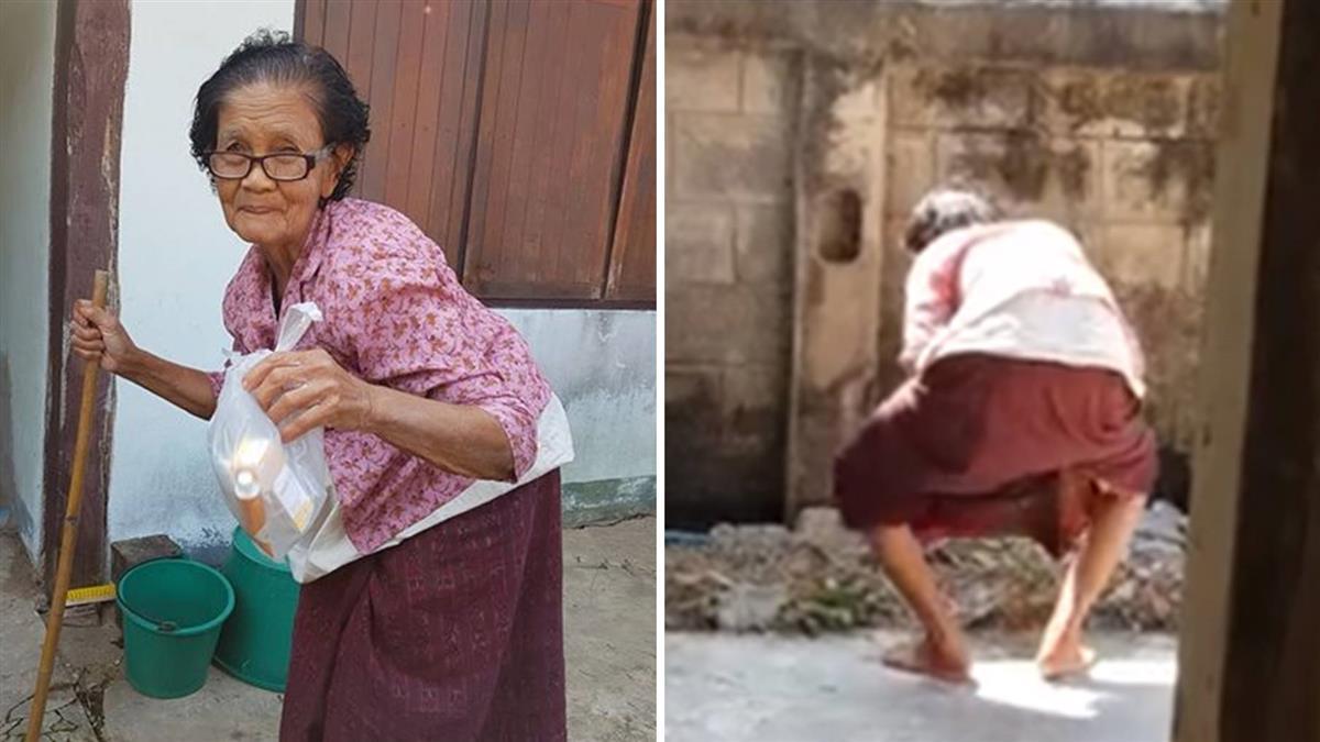 84歲阿嬤深蹲撩裙 雙腿開開秀絕技!200萬人朝聖看片