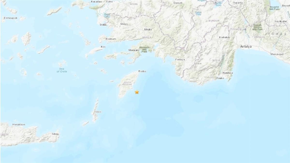 希臘羅得斯島外海5.3地震 目前未傳災損