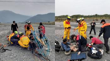 屏東動力飛行傘墜落!53歲男大腿骨折急送醫