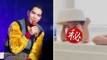 賈靜雯出賣Bo妞沐浴照「撞臉蕭敬騰」!網傻眼:親生的