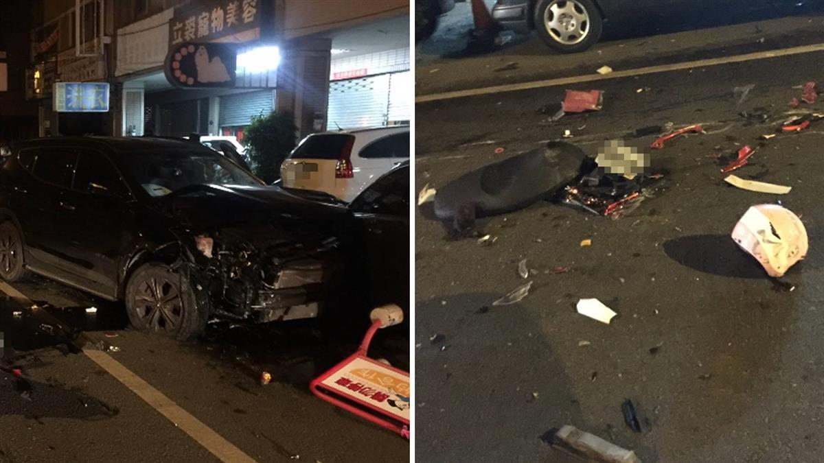 台中男3度酒駕 逆向衝撞8車奪2命!開門掉出高粱