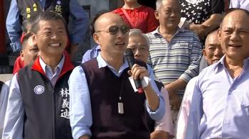 走春發紅包民喊選總統!韓國瑜笑得尷尬