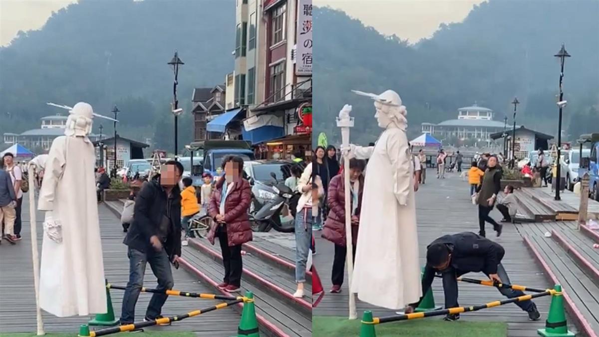 街頭藝人浮空術 男強拍裙底想揭密!親友痛心說話