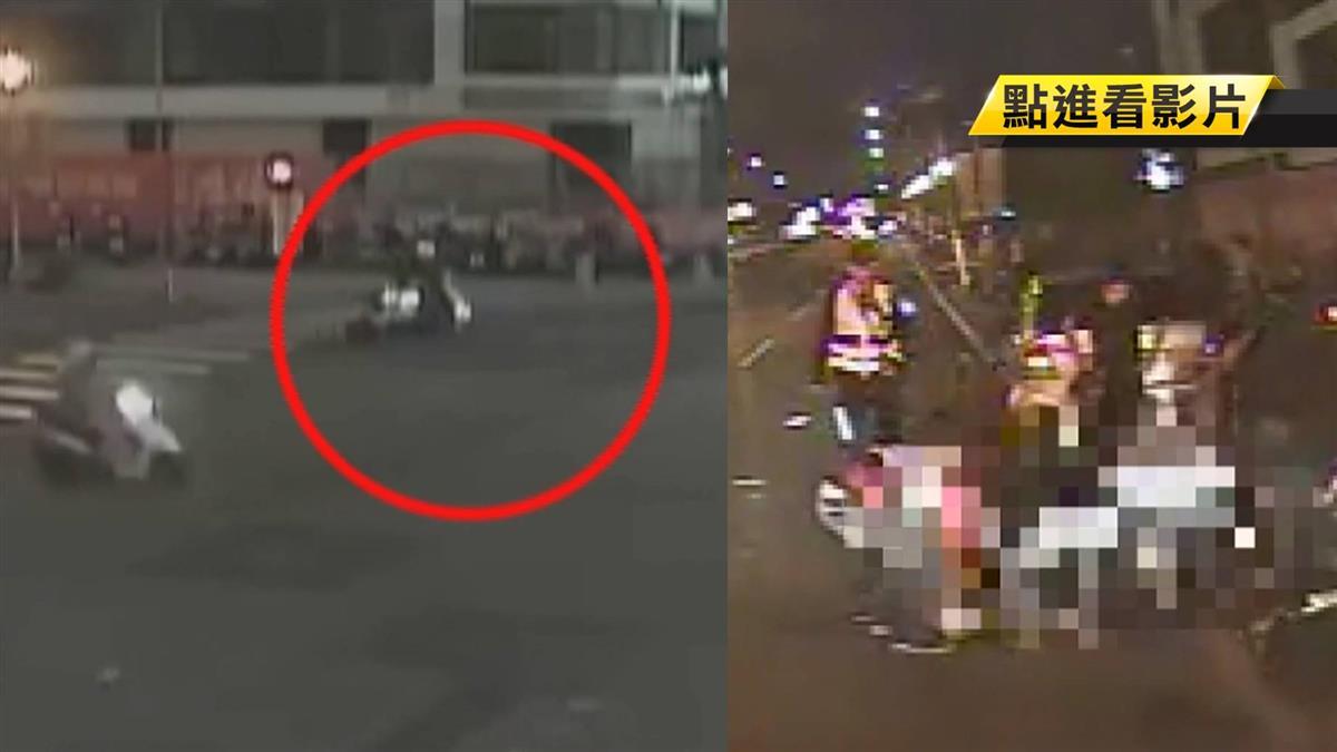 未依兩段式左轉 騎士連人帶車被撞噴飛亡