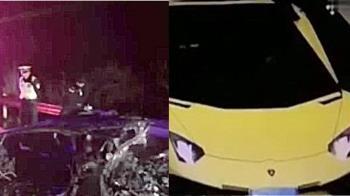 史上最衰!他借2700萬超跑趕上班 車自撞燒成廢鐵