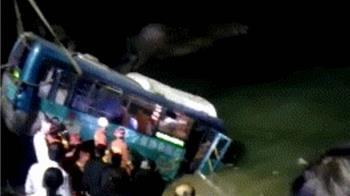 大陸再傳公車墜江 陝西寧強2死多傷