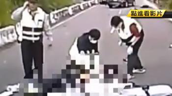 重機撞3貼國中足球校隊!機車遭拋飛 2騎士雙亡