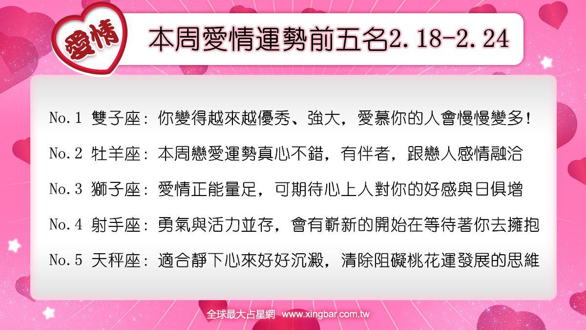 12星座本周愛情吉日吉時(2.18-2.24)