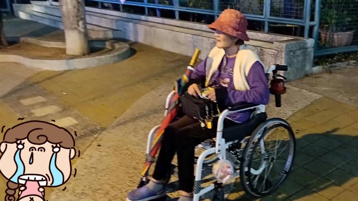 獨居嬤車禍癱瘓 每晚推輪椅賣口香糖:希望能吃飽