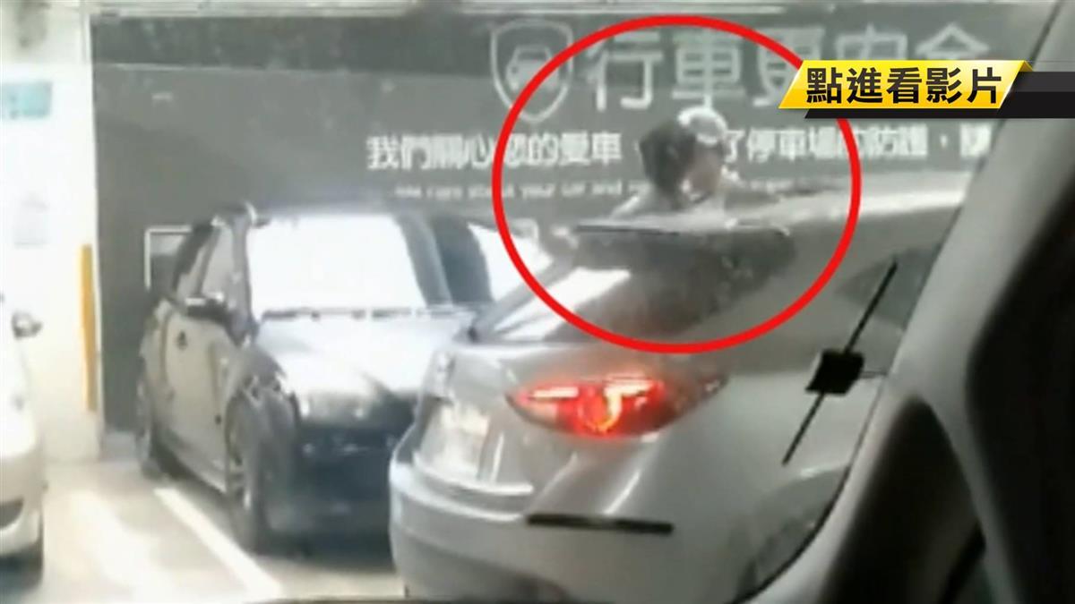 疑行車糾紛衝突 賣場停車場2男叫囂互嗆
