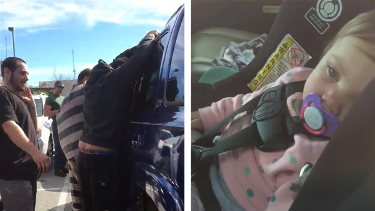 糊塗爸將1歲女兒鎖車裡!囚犯看不下去…2分鐘撬開門