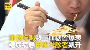 連假吃喝熱量血糖皆爆表 糖尿病患年後求診者飆升