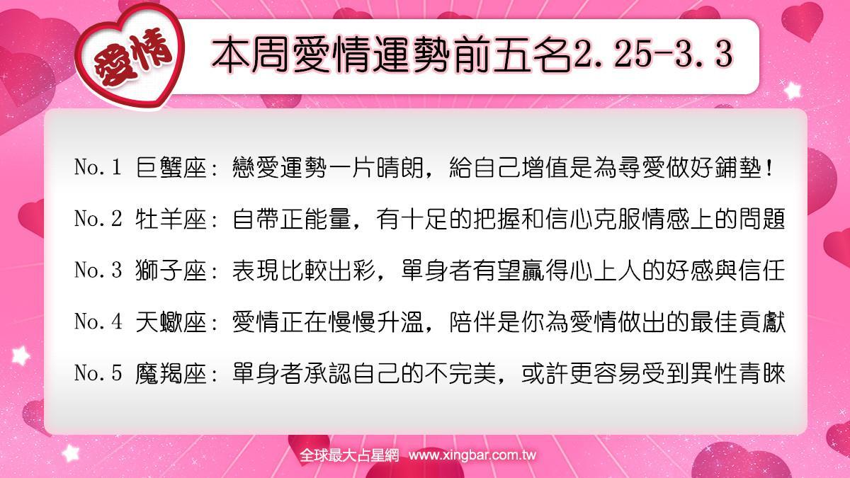 12星座本周愛情吉日吉時(2.25-3.3)