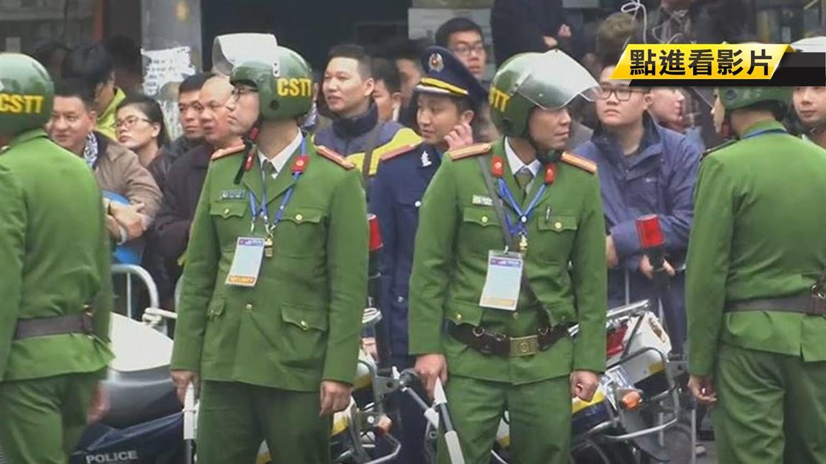 川金二會保護金正恩 越南出動裝甲車