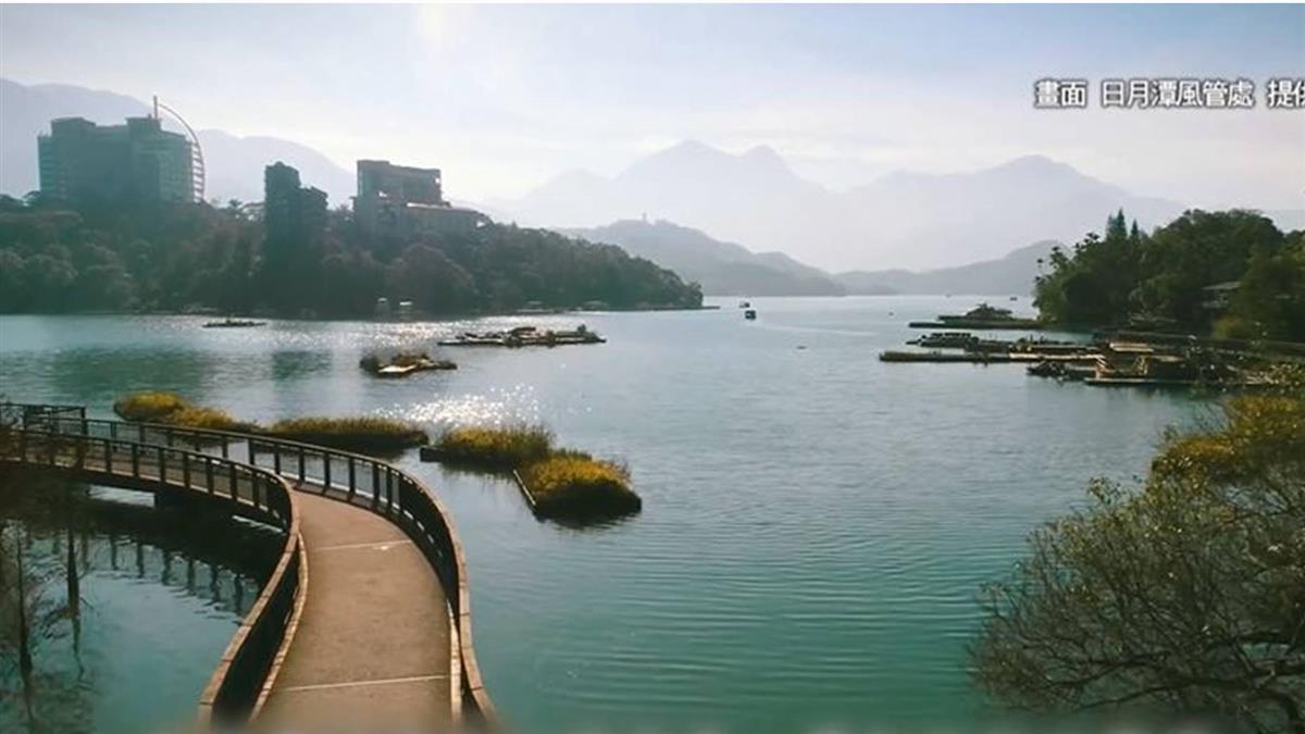 水位下降! 日月潭新八景之一水上自行車步道 夢幻不再