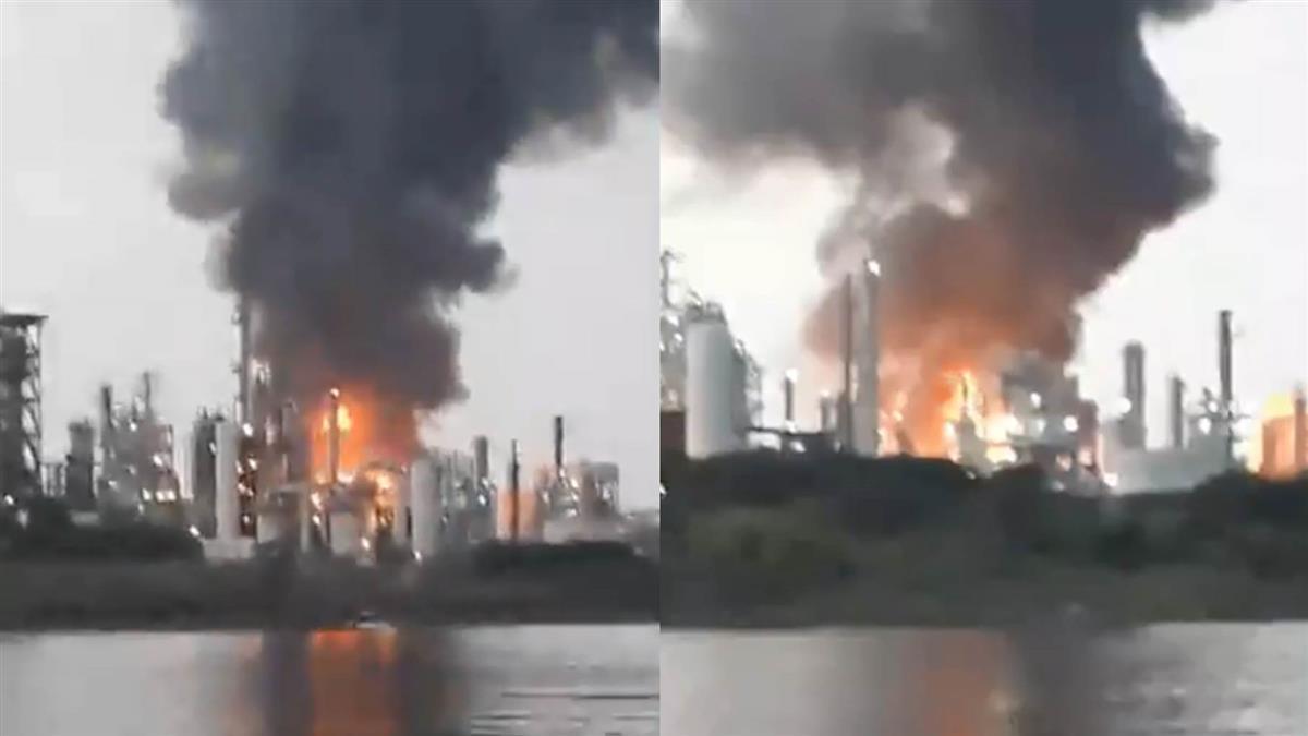 【快訊】台石化林園煉油廠爆炸!大火直竄…警消搶救3人送醫