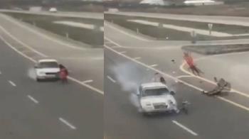 人肉保齡球!媽帶女童闖公路 遭撞飛雙亡