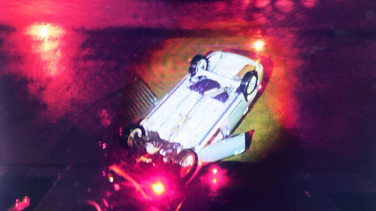 台中男子酒駕轎車衝入河床 酒測超標被法辦