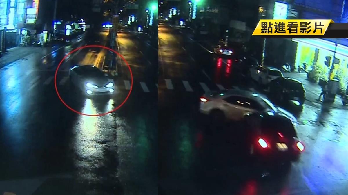 酒駕闖紅燈 害直行車煞不住攔腰撞轉180度