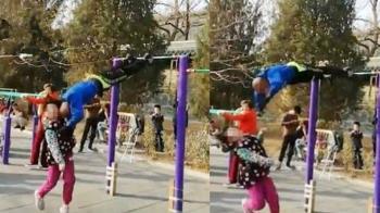 360度單槓旋轉!地壇牛人鐵頭擊 撞飛10歲女童