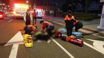 台北車站前公車撞人 女遭輾爆頭慘死