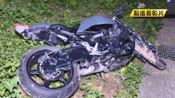 疑下坡打滑…男重機騎士自撞山壁爆頭亡