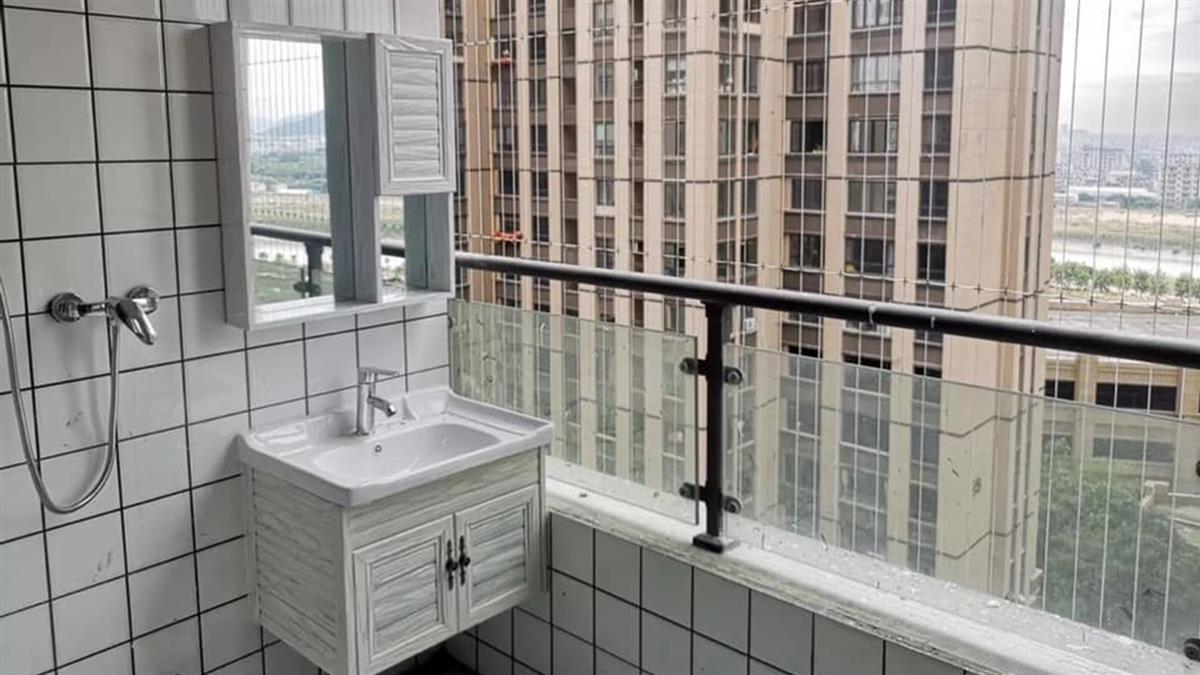 好涼!開放式陽台浴室 網暴動想租對面